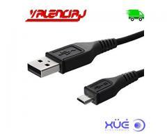 CABLE USB A MICRO USB 5 PINES 2A NEGRO PARA CELULAR 1 METRO XUE