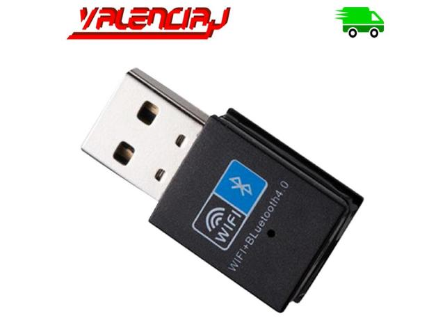 ADAPTADOR USB WIFI 150 MPS + BLUETOOTH V4.0 10 METROS MINI USB - 1/3