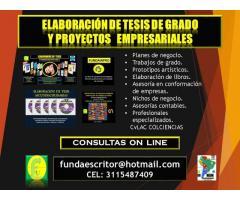 TESIS DE GRADO Y PROYECTOS EMPRESARIALES