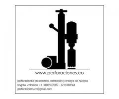 perforaciones en concreto, extraccion y ensayo de nucleos