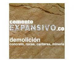 Cemento EXPANSIVO, demolicion concreto, rocas, canteras, mineria