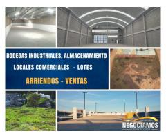 Bodegas, Lotes, Locales Comerciales