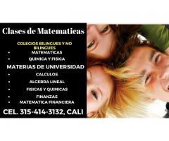 Clases de Matemáticas para Estudiantes de Colegio y Universitarios