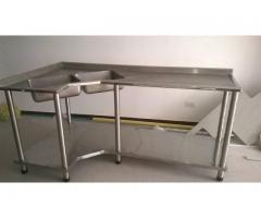 lavaplatos mesas de trabajo sillas mesas