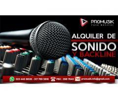 alquiler de sonido y backline para conciertos musicales gospel y otros