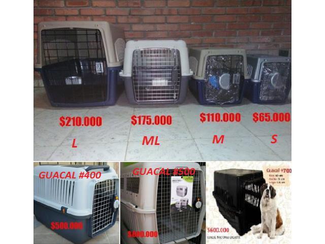 Guacales o jaulas de Transporte para Tus Mascotas Tamaño S, M, Ml, L, XL Y XXL en Venta - 1/1