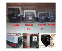Guacales o jaulas de Transporte para Tus Mascotas Tamaño S, M, Ml, L, XL Y XXL en Venta