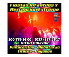 FIESTAS INFANTILES EN CALI + RECREACION + LUCES + HORA LOCA