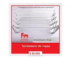 TENDEDEROS DE ROPA EN BLANCO, NEGRO Y GRIS