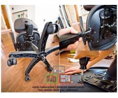 cambio de carcasas en sillas secretarial