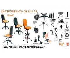 Reparación y mantenimiento sillas de oficina