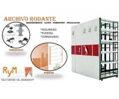 MANTENIMIENTO AJUSTE SUMINISTRO E INSTALACIÓN DE ARCHIVO RODANTE