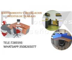 Desmonte e instalación de muebles de oficina