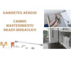 mantenimiento de brazo hidráulico gabinetes