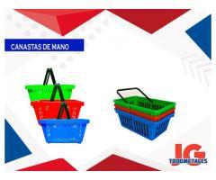 Canastas de mano plásticas