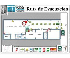Rutas de evacuación, y todo tipo de señalizacion