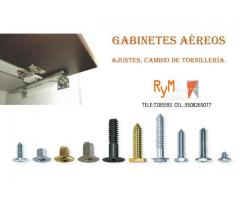 Arreglo de gabinetes aéreos