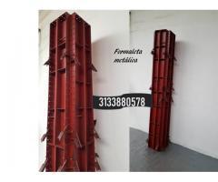 Formaleta metálica  para muro y columna