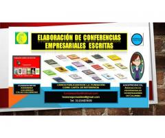 ELABORACION DE CONFERENCIAS EMPRESARIALES ESCRITAS
