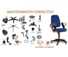 Mantenimiento correctivo de sillas secretariales