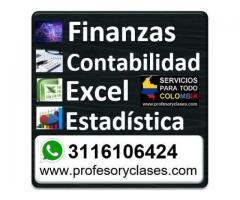 Ofrezco clases particulares Finanzas a domicilio en Medellin Contabilidad Excel Profesor particular