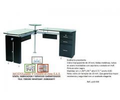 fabricación de escritorios en vidrio