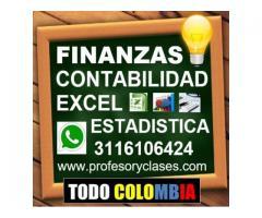 Profesor particular Contabilidad Finanzas Excel Estadistica Medellin Clases particulares a domicilio