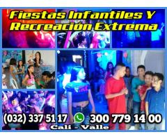 MINITECA RECREACION ANIMACION SONIDO LUCES HORA LOCA EN CALI 300 779 14 00