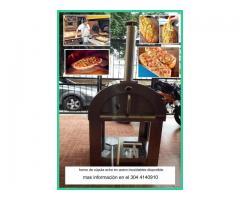 horno de leña con piso refractario