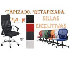 Retapizado para sillas ejecutivas.