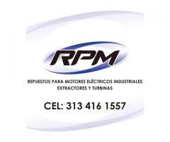 RPM Motores Eléctricos Industriales Extractores y Turbinas