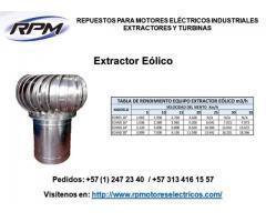 Extractor de rendimiento equipo eólico m3/h Extractor de rendimiento equipo eólico m3/h