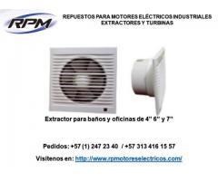 Extractores industriales, extractores económicos, extractores, cocinas, baños y oficinas