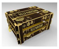 Caja de madera para empaque de ancheta