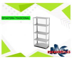 Estantería metálica Con Tornillos 200x90x30 Cm 5 Niveles Blanco