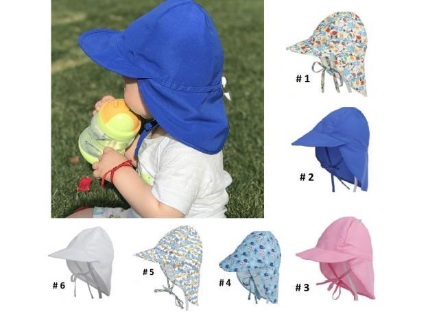 Gorra Flap para niños Proteje Cara,cuello, Orejas. Ajustable - 1/6