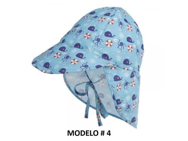 Gorra Flap para niños Proteje Cara,cuello, Orejas. Ajustable - 6/6
