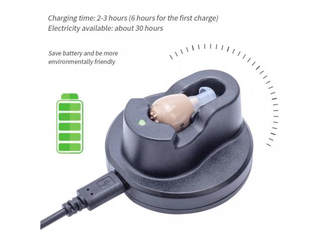 Mini Audifono Amplificador De Sonido Recargable - 1/6