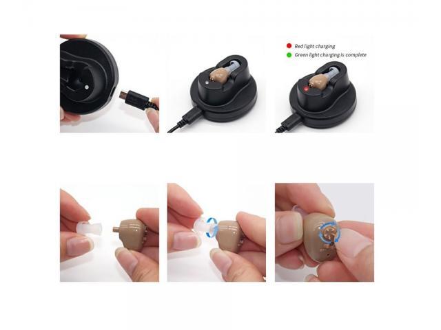 Mini Audifono Amplificador De Sonido Recargable - 4/6