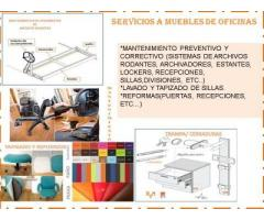 SERVICIOS A MUEBLES DE OFICINAS.