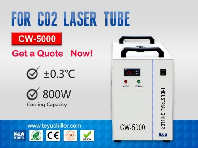 Enfriador de agua industrial pequeño CW-5000 - 1/1