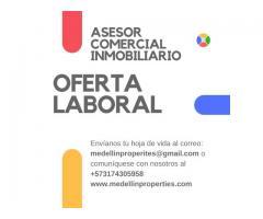 ASESOR COMERCIAL INMOBILIARIO