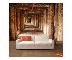 vinilo adhesivo o fotomurel laminado e instalado diseños personalizado full color formato lienzo.