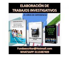 TRABAJOS DE INVESTIGACIÓN CIENTÍFICA