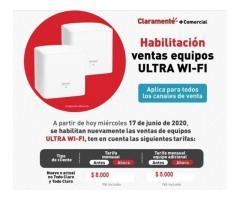 CLARO Internet, Tv. Telefonía, Equipos
