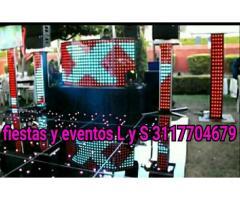 Alquiler pantallas led dj para fiestas