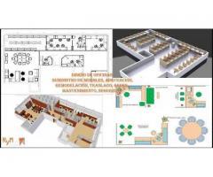 Diseños arquitectónicos para oficina y de mas espacios