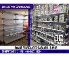 estanterias para supermercados en cali