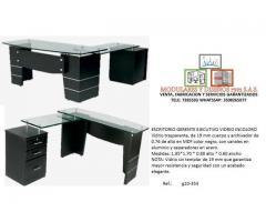 Fabricación de escritorios en L
