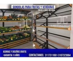 Estanterias para frutas y verduras